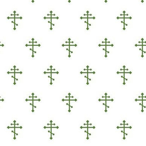Orthodox Cross in Green