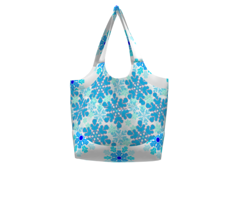Snowflake Pointillism Blue, Teal