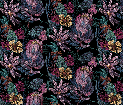 Floral Point fabric by torysevas on Spoonflower - custom fabric