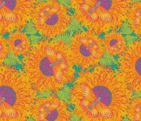 Sun Butter  Pointillism  - M Lezine  fabric by marcella_lezine on Spoonflower - custom fabric