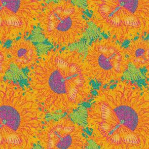 Sun Butter  Pointillism  - M Lezine