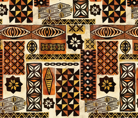 Mixed Tapa fabric by woodyworld on Spoonflower - custom fabric
