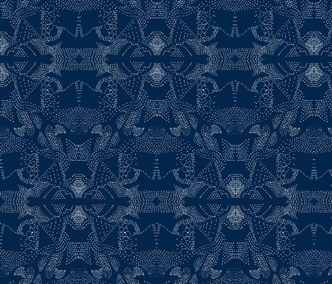 pointillism blues fabric by arrpdesign on Spoonflower - custom fabric