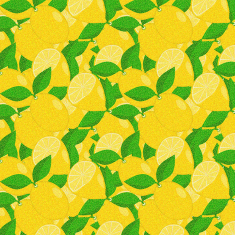 pointillism_in_lemons fabric by anino on Spoonflower - custom fabric