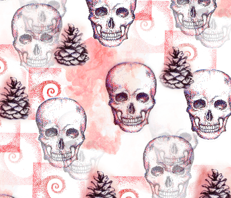 skullspinecone fabric by staceysherman on Spoonflower - custom fabric