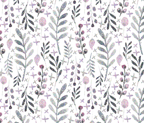 Watercolor_Floral_Pointillism fabric by wolfandrabbitfabrics on Spoonflower - custom fabric