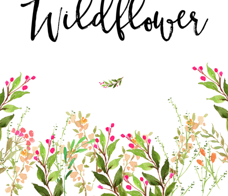"42""x72"" In a Field of Roses She is a Wildflower fabric by shopcabin on Spoonflower - custom fabric"