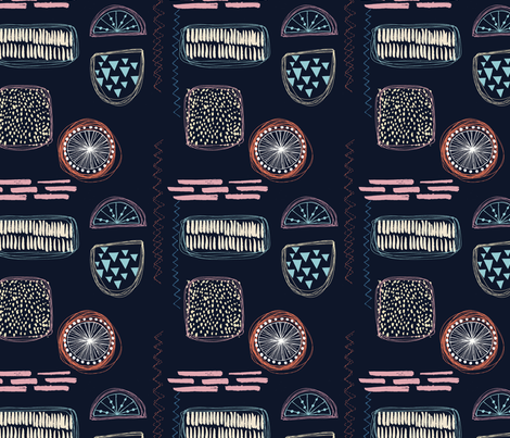 ABSTRACT THREAD fabric by clairesalisburystudios on Spoonflower - custom fabric