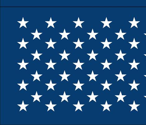 American flag - blue star field fabric by renee2181 on Spoonflower - custom fabric