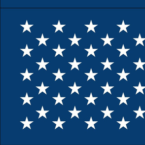 American flag - blue star field