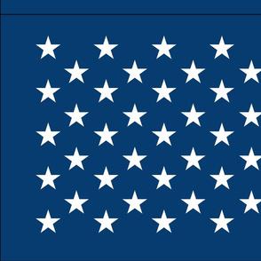 American flag - blue star field