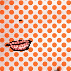 lips dots lichtenstein