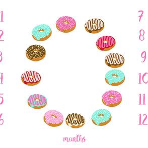 """42"""" milestone blanket - donuts"""