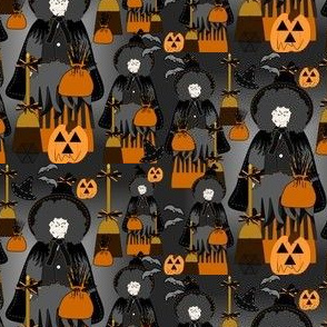 Halloween Wickedly Plump Dot Witch Fabric  Collection