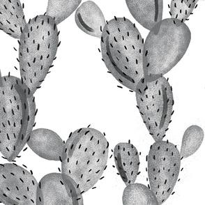 paddle cactus // charcoal // oversized