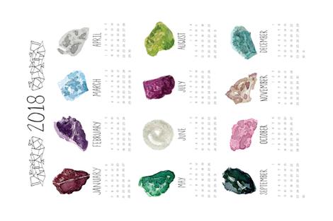 Gemstone_Calendar fabric by lprspr on Spoonflower - custom fabric