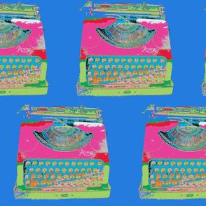 Jack Kerouac's Typewrite -  #257CDF background