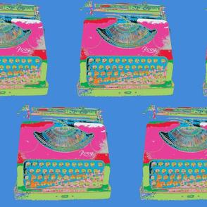 Jack Kerouac's Typewrite -  #438bda background