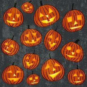 pumpkins on grey
