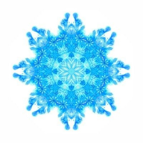 Watercolor snowflake