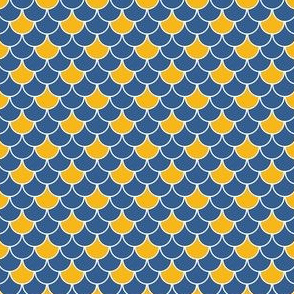 Talavera - Half-Inch Wide Scales - Blue and Yellow