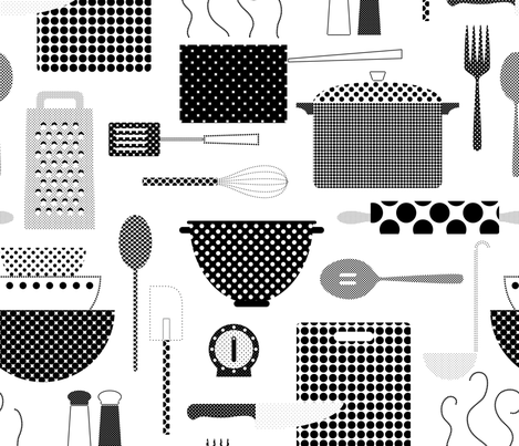 Dotted Dinner fabric by katerhees on Spoonflower - custom fabric