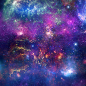 Huge seamless Galaxy - purple space with milky way and supernova