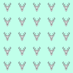 Mint Geometrical Deer