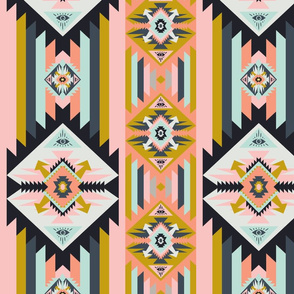 Colorful Pastel Kilim with eye