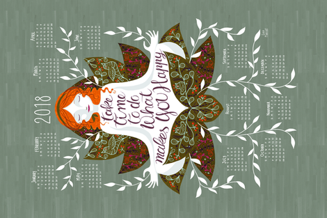 Calendar2018fabric fabric by gaiamarfurt on Spoonflower - custom fabric