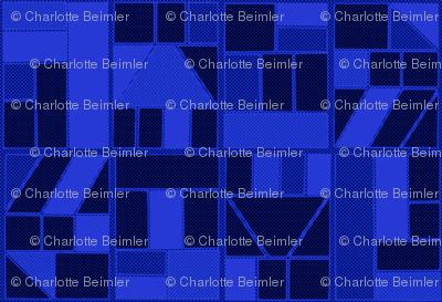 Ben-Day Frames Reverse Blue