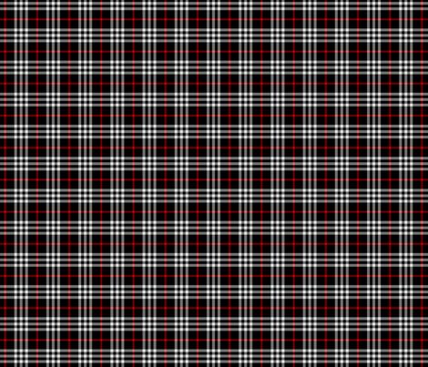black red tartan fabric by misstiina on Spoonflower - custom fabric