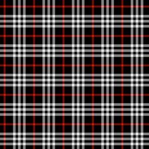 black red tartan
