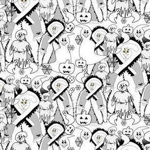Halloween Valerie The Proper Lady Ghost Victorian Ghosts Fabric Collection