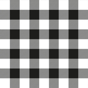 Black and White Big Gingham Vector