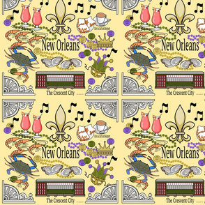 New Orleans Medley in Yellow
