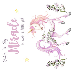 "42""x36"" Miracle Baby Unicorn in Lilac"