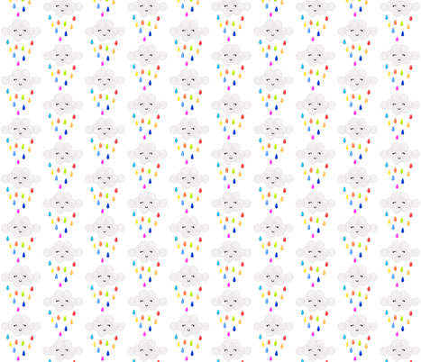 rainbow baby clouds fabric by ivieclothco on Spoonflower - custom fabric