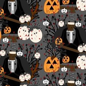 Halloween Halloween I Lost My Head Abraham The Headless Horseman Fabric  Collection