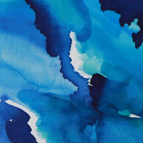Watercolor Blue Skies Abstract Art