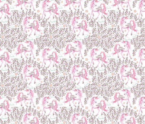 Rpink_unicorn_floral_garden_all_pink_shop_preview