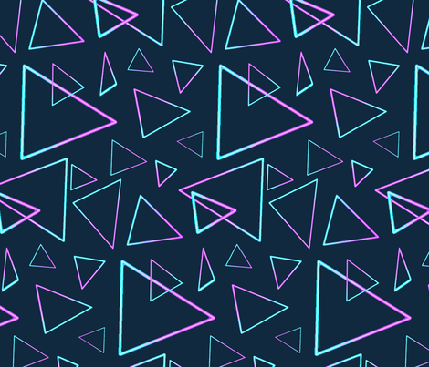 OUTRUN_triangle fabric by emma_d_ptak on Spoonflower - custom fabric