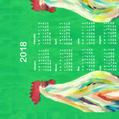 2018 Calendar, rise and shine