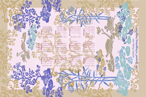 My little lake fabric by herbal_things on Spoonflower - custom fabric