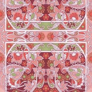 Pink Paisley Posy Patch