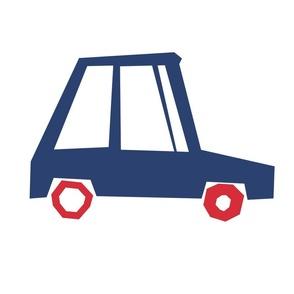 Blue Cartoon Car