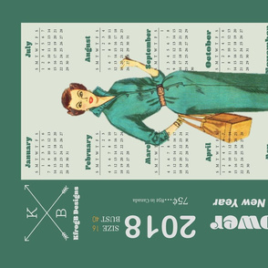 2018_Vintage Dress Pattern_Green