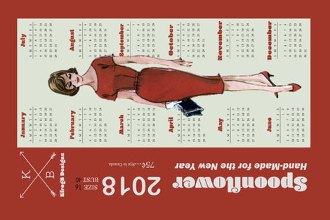 2018_Vintage Dress Pattern_Red fabric by kfrogb on Spoonflower - custom fabric