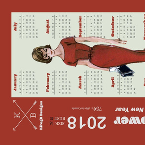 2018_Vintage Dress Pattern_Red