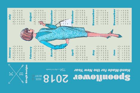 2018_ Vintage Dress Pattern_Blue fabric by kfrogb on Spoonflower - custom fabric